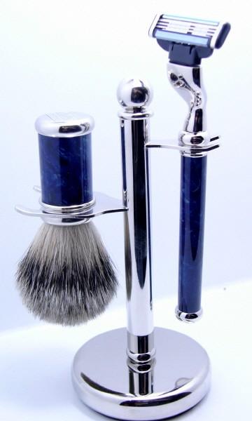 Rasierset Jerry Mach3. Silberspitz