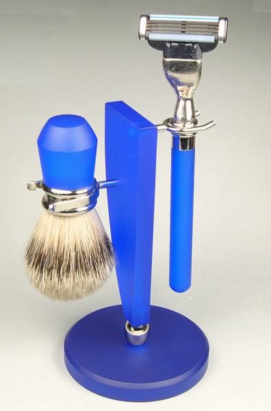 Rasierset Henry Segel blau