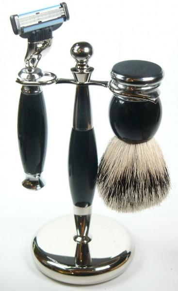 Rasierset schwarz Olli Silberspitz
