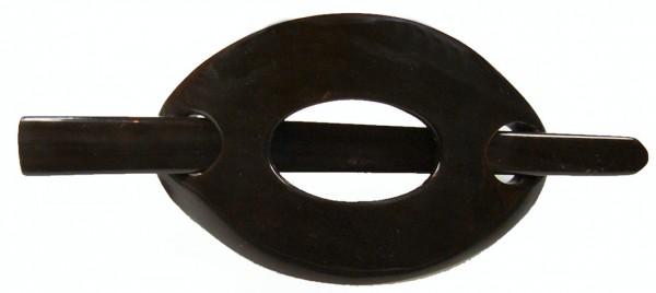 Horn Haarspange schwarz mit Stab schwarz