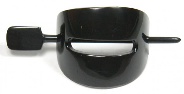Horn Haarspange schwarz mit Stab